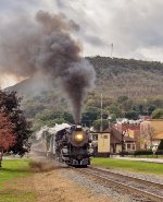 RBMN 425 charges uphill through Tamaqua